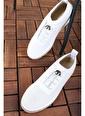 Oksit Num Taşlı Rahat Kadın Sneaker Beyaz